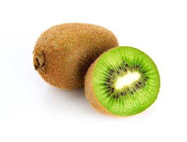 Kiwi fruit close-up isolated on a white background