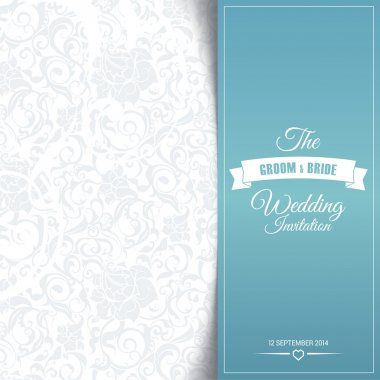 Wedding invitation card editable with background chevron