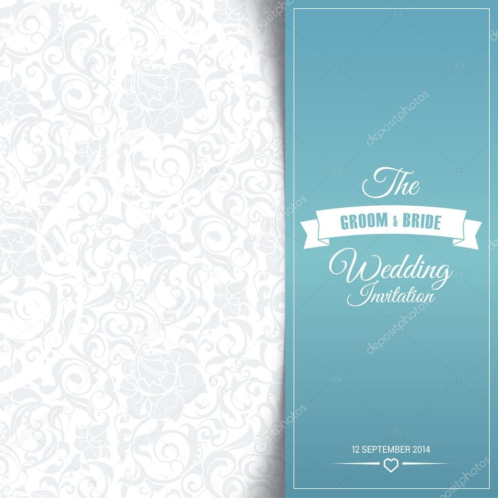 Wedding Invitation Card Editable With Background Chevron Stock