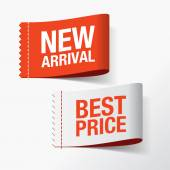 Photo New arrival and best price labels
