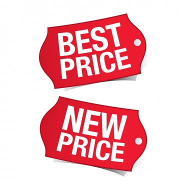 New price and best price labels