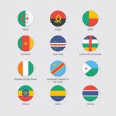 Afrika nastaven příznak. Plochý design