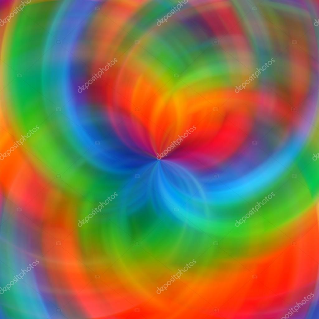 abstract rainbow color paint fractal art background u2014 stock photo