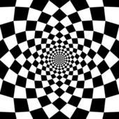 Vector optický klam zoom černé a bílé pozadí