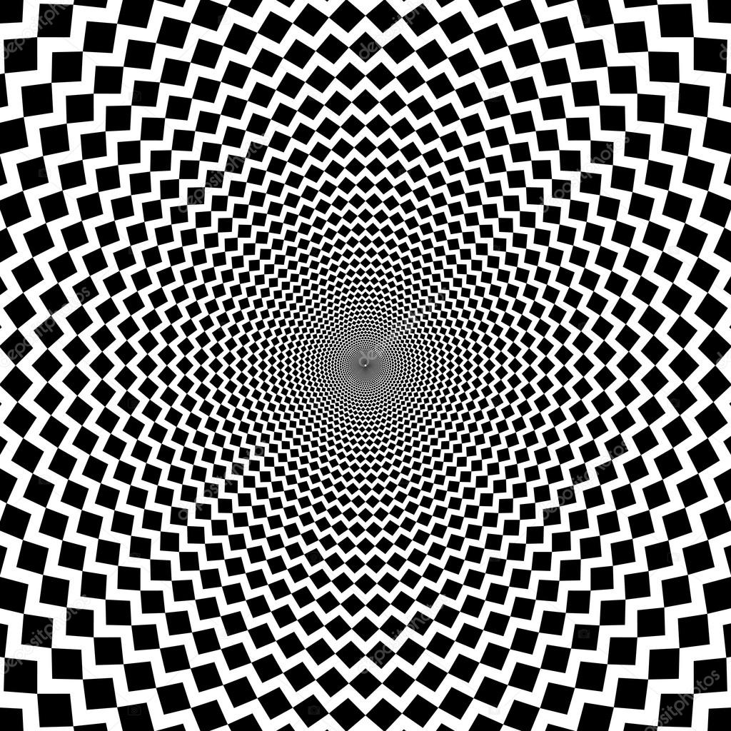 Sfondo Bianco E Nero Di Linee Taglienti Di Illusione Ottica