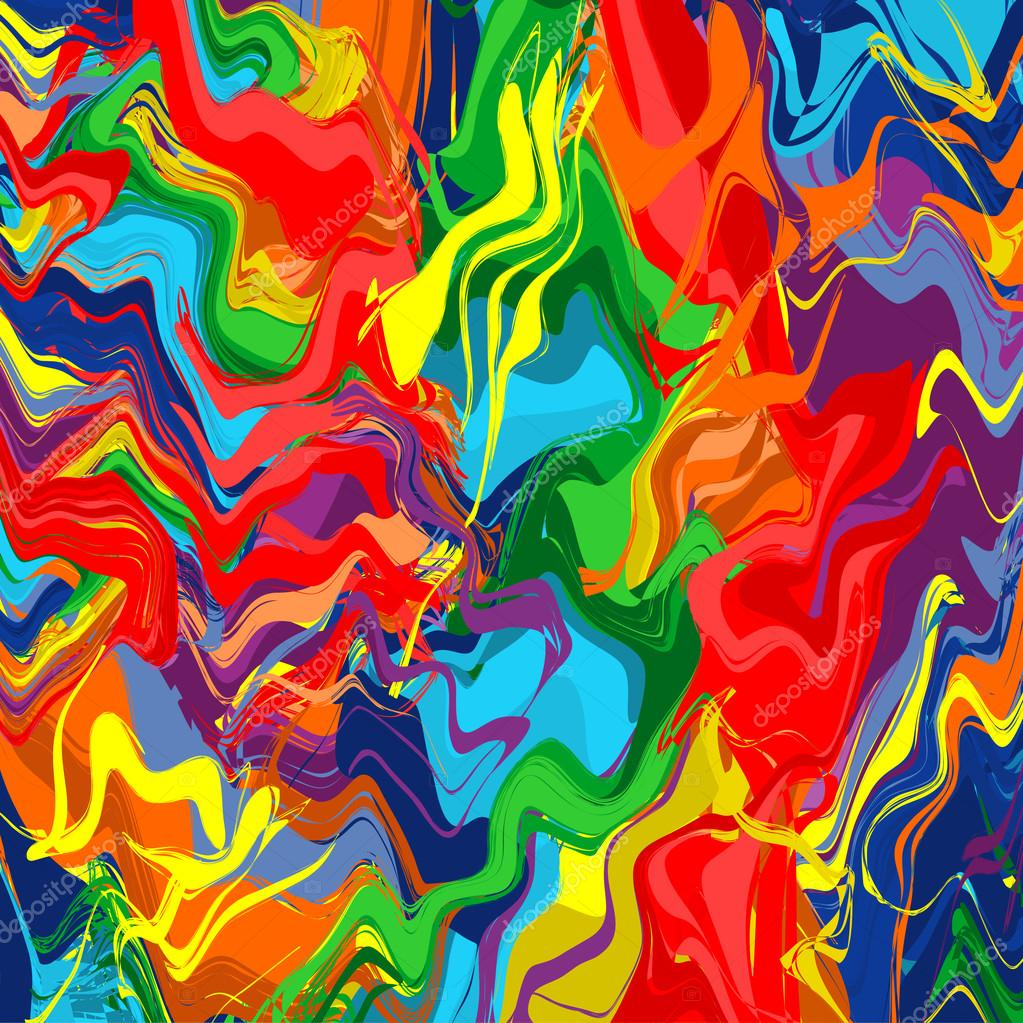 rainbow color splash brush strokes paint background — Stock Vector ...