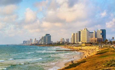 View of the Mediterranean waterfront in Tel Aviv
