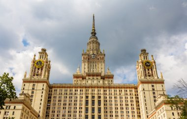 Facade of Moscow State University. Russia
