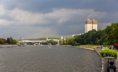 Moscow river in Sparrow Hills - Russia