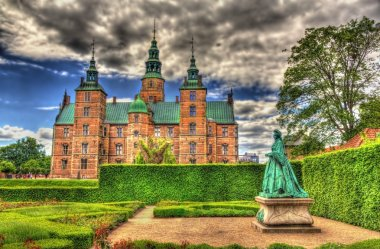 Rosenborg Castle in Copenhagen, Denmark stock vector