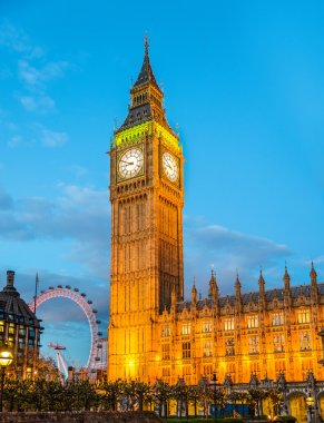 The Elizabeth Tower of the Palace of Westminster (Big Ben)