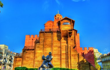 Yaroslav the Wise Monument and the Golden Gates of Kiev - Ukrain