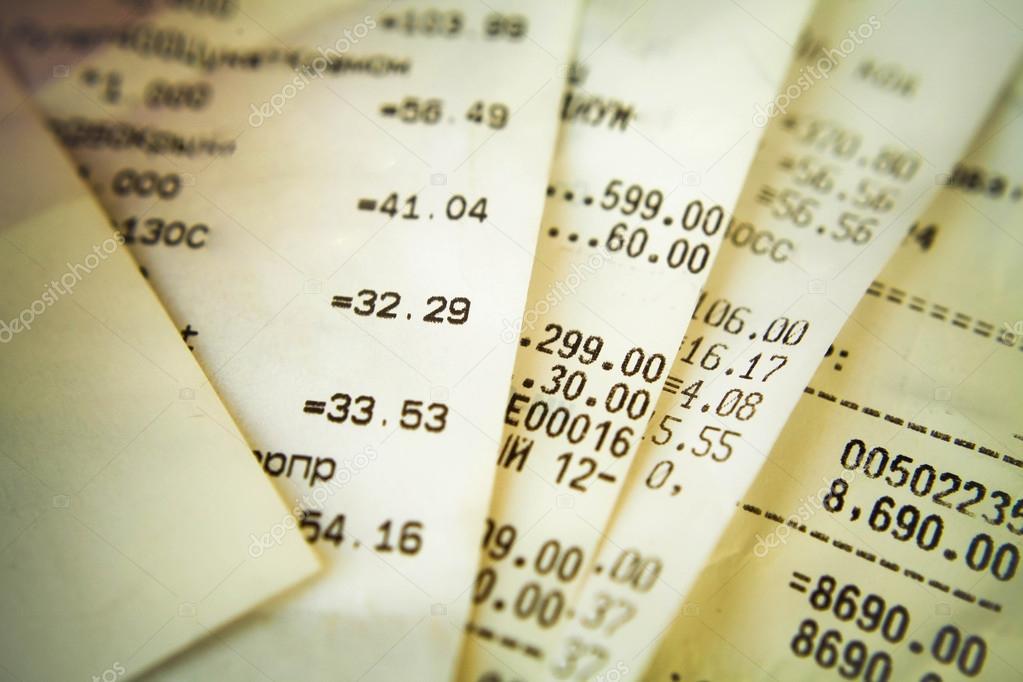 Zur Veranschaulichung des ausgegeben Geldes Geldeingang — Stockfoto ...