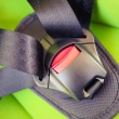 Chilld closeup automobile safety belt (seat belt) — стоковое фото #71440761