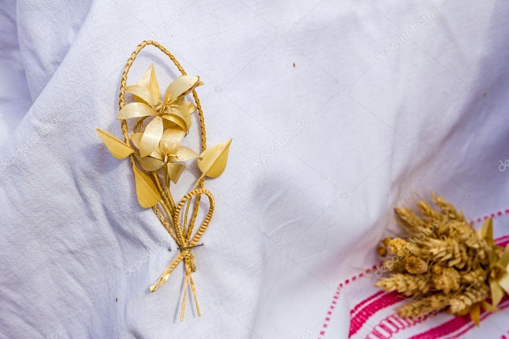 Trigo, tejido, trenzado grano como una flor — Foto de stock ...