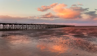Urangan Pier  at sunset Hervey Bay Queensland