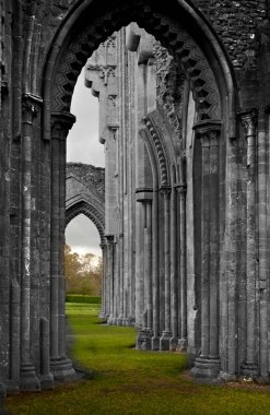 mysterious Glastonbury cathedral