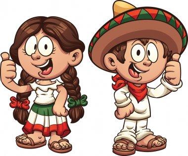 Cartoon Mexican Kids