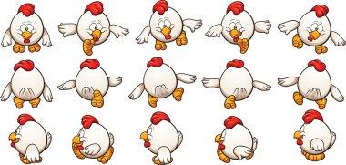 Cartoon chicken walking