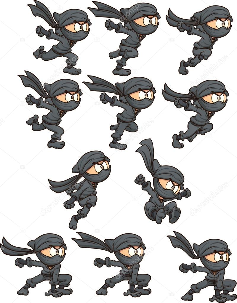 Dessin anim ninja image vectorielle memoangeles 56939807 - Dessin anime ninja ...