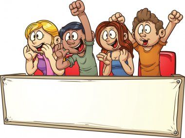 Cheering crowd