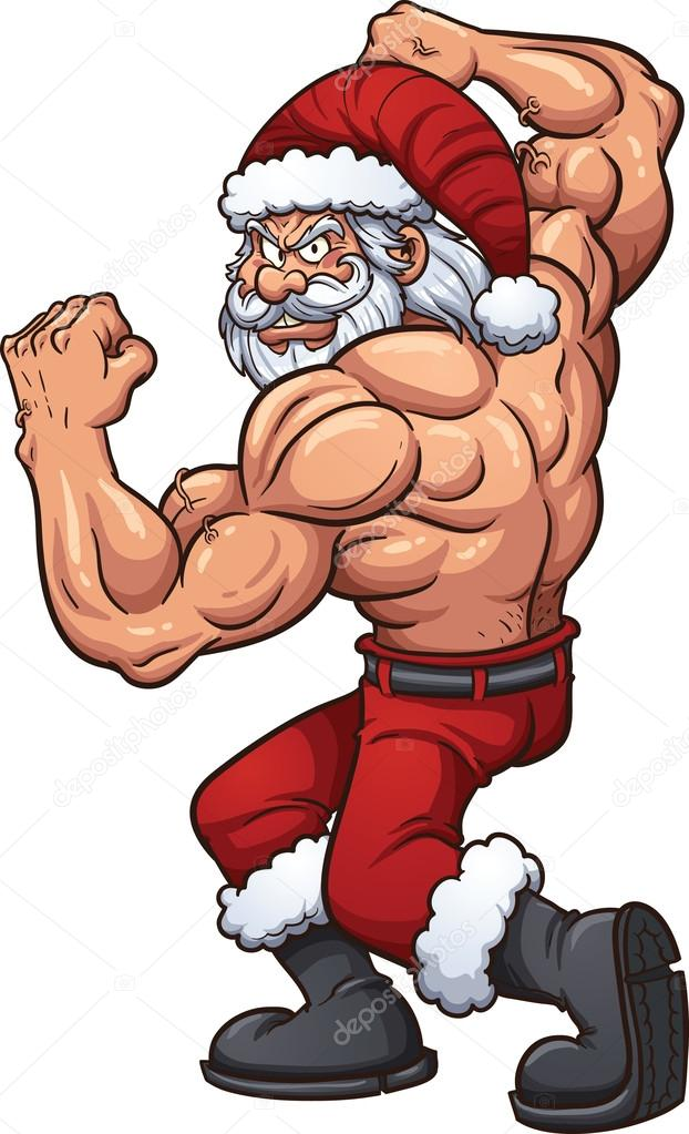strong santa claus stock vector - Santa Claus Santa