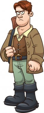 Cartoon huntsman