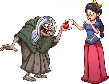 Snow White and witch