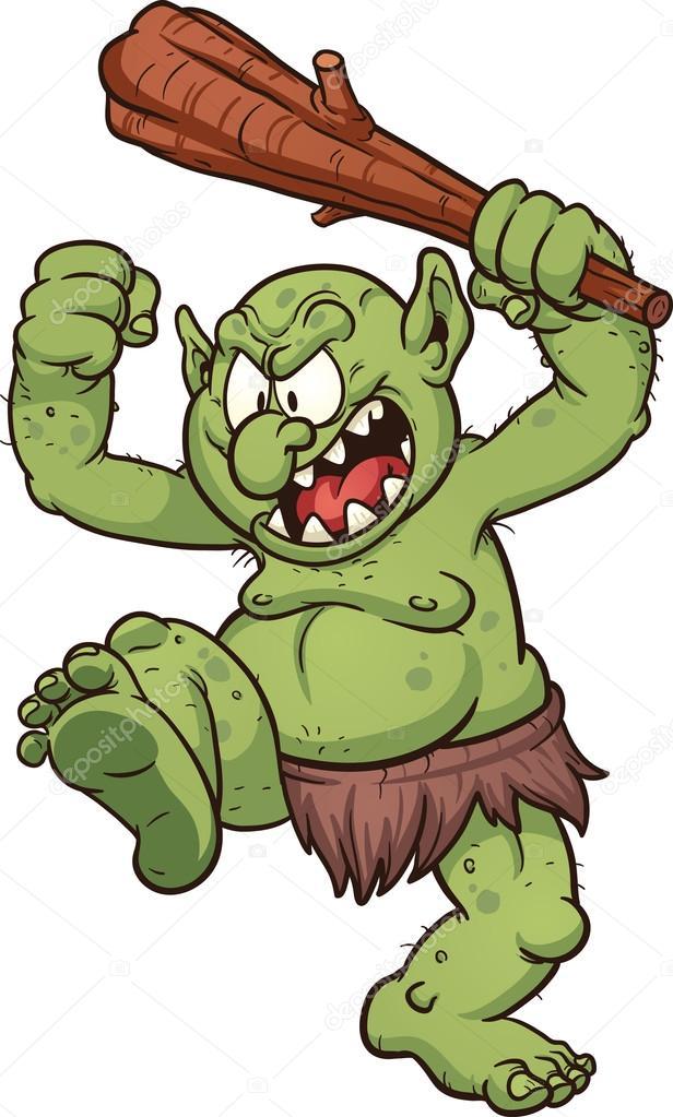 Cartoon troll
