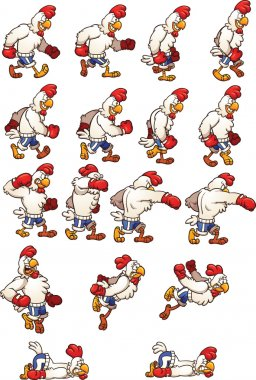 Boxing chicken