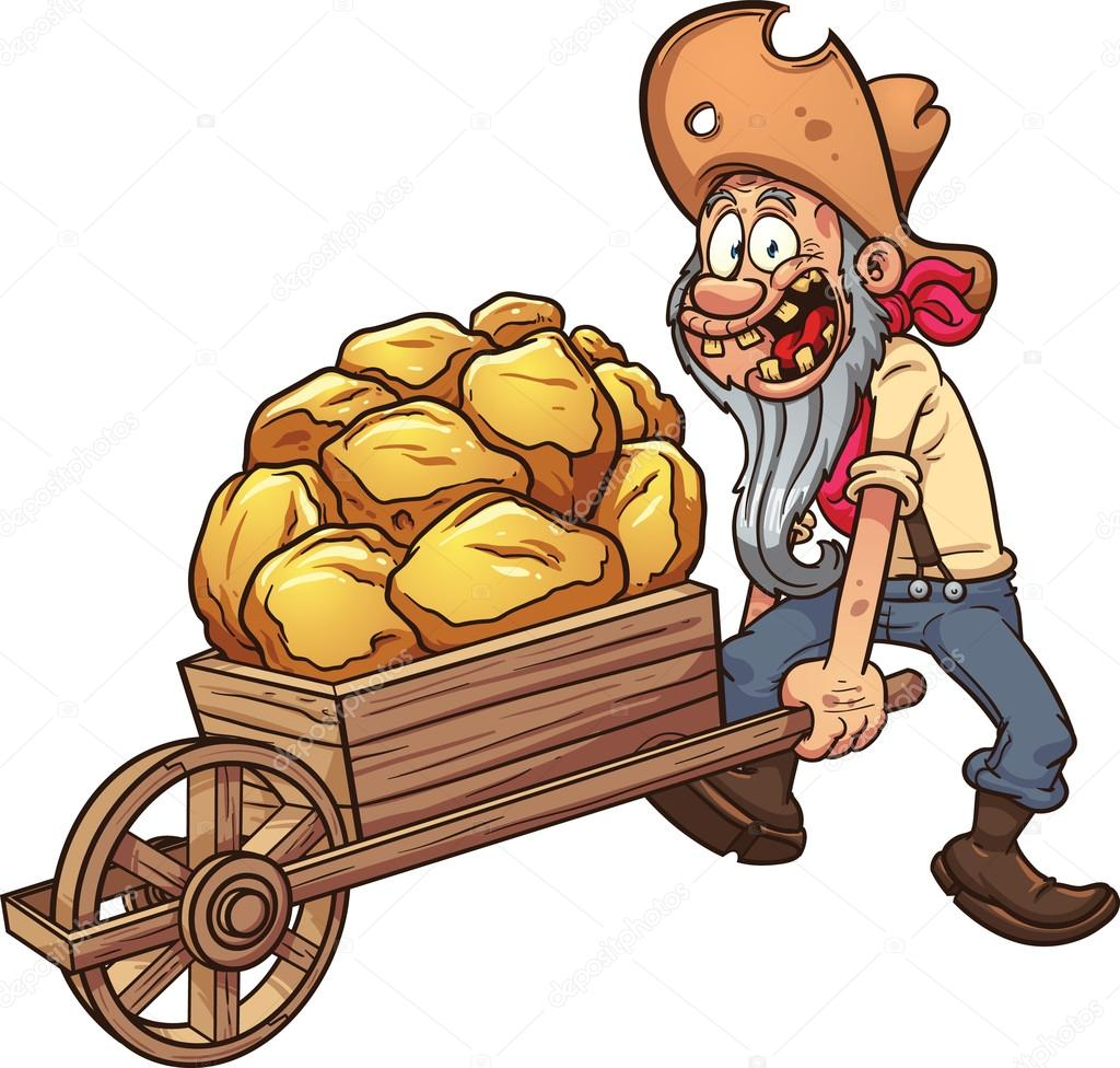 Gold panning clipart