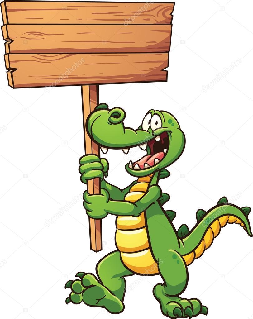 cocodrilo de dibujos animados — Vector de stock © memoangeles #78536728