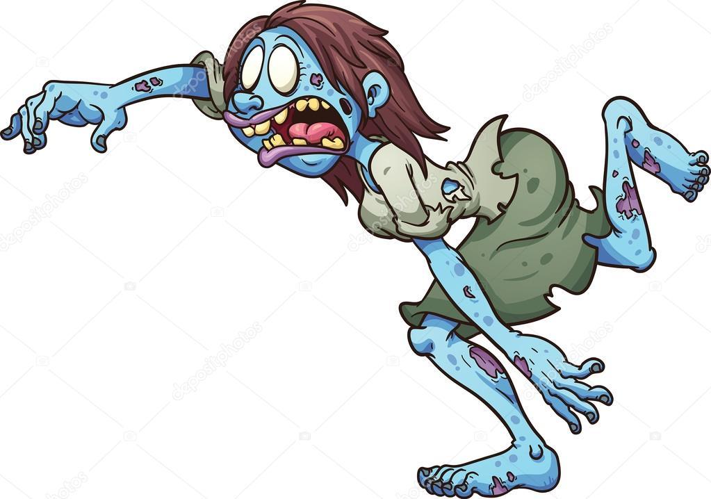 Cartoon zombie — stock vector memoangeles