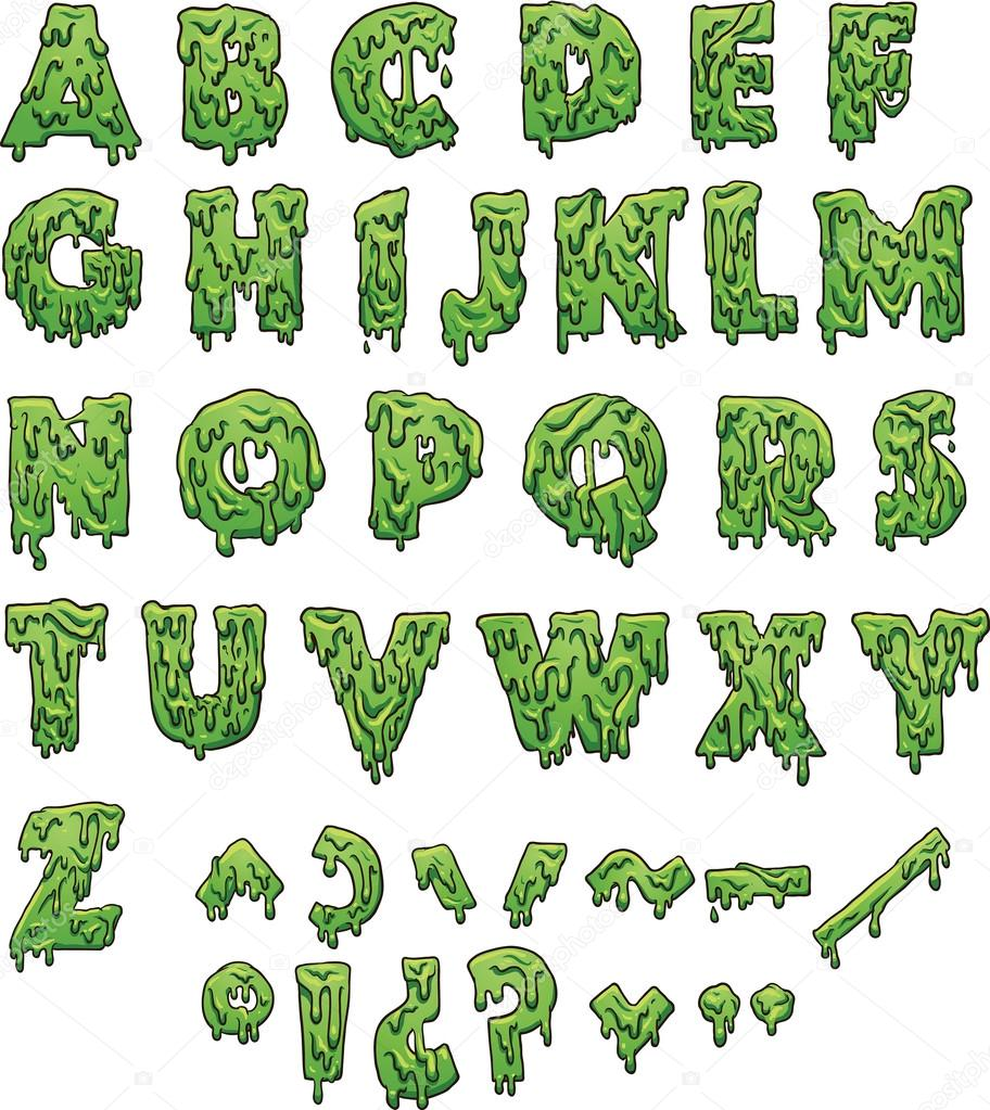 Slime Letters Template