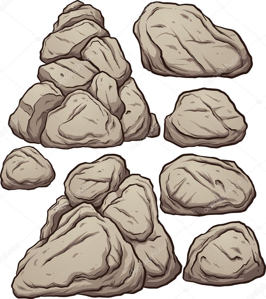 Imágenes Rocas Animadas Montones De Dibujos Animados De Rocas