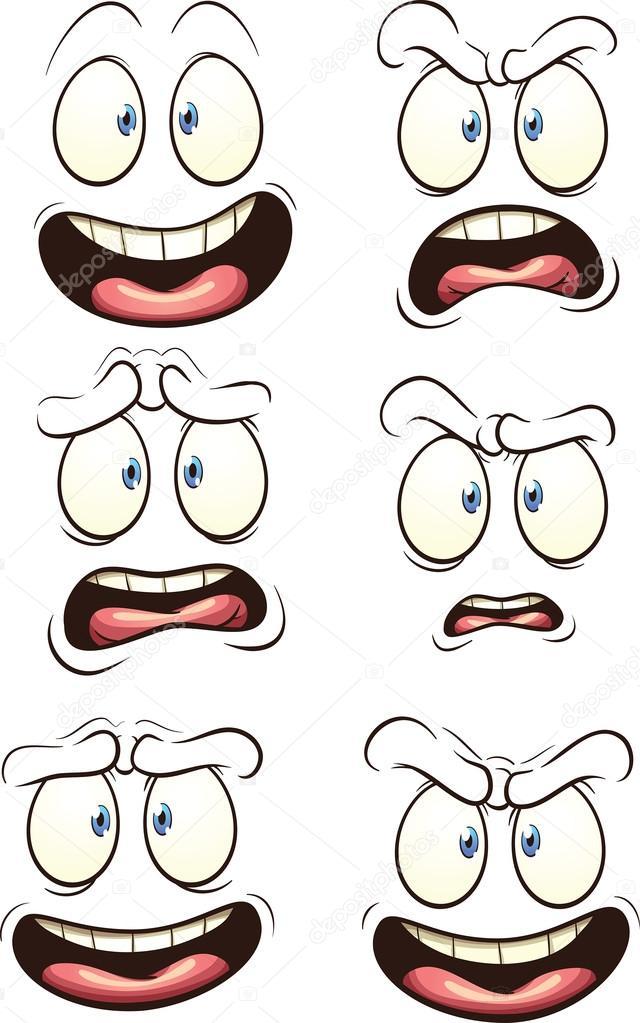 Dibujos Caras Expresiones Dibujos Animados De Caras Con