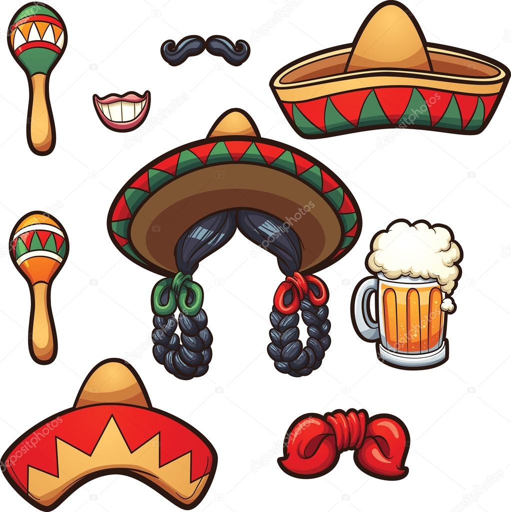 depositphotos_99030992 stock illustration mexican party props