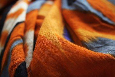 Multicolored fabric close up