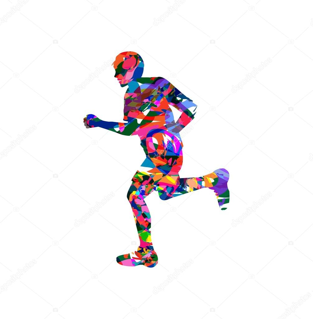 走っている人のベクトル イラスト ストックベクター Passiflora