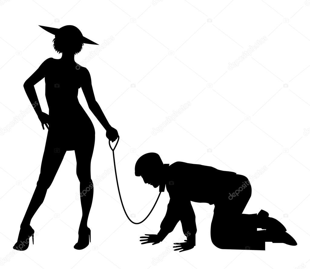 Men And Women Walking The Dog
