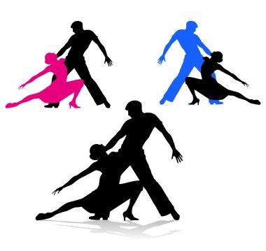 Dancers silhouette