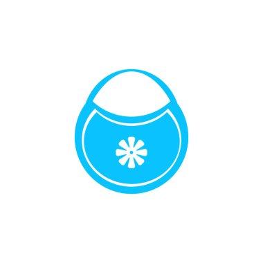 Baby bib icon flat. Blue pictogram on white background. Vector illustration symbol icon