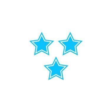 Star icon flat. Blue pictogram on white background. Vector illustration symbol icon