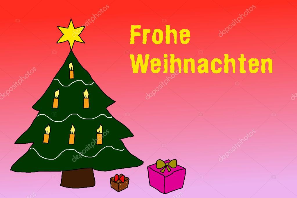 Merry Christmas in german language