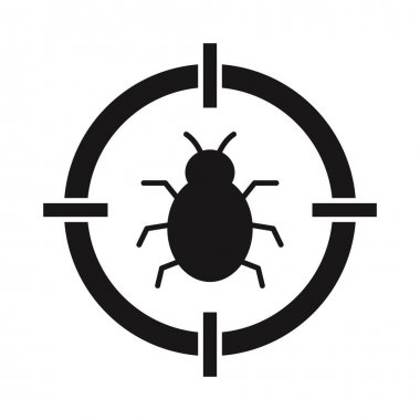 Bug target Glyph vector icon which can easily modify or edit icon