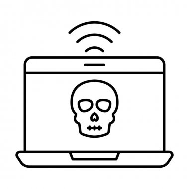 Fraud internet Line vector icon which can easily modify or edit icon