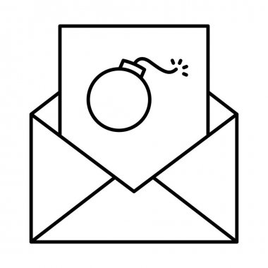 Junk mail Line vector icon which can easily modify or edit icon