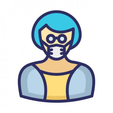 Manager Wearing mask Vector Icon which can easily modify or edit icon