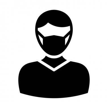 Young Boy Wearing mask Vector Icon which can easily modify or edit icon