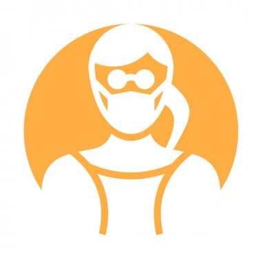 Secretary Wearing mask Vector Icon which can easily modify or edit icon